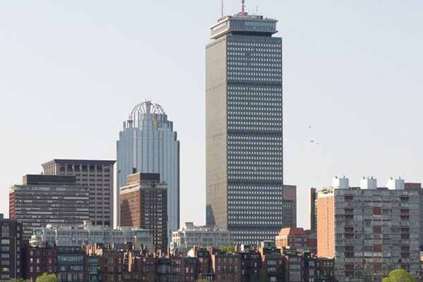 Boston skyline with the Prudential Building
